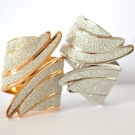 BRACCIALE donna RIGIDO argento oro brillantini luccicanti elegante pulsera sexy bracelet armband pulseira BB29