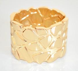 BRACCIALE ORO donna RIGIDO a schiava ELEGANTE lucido satinato sexy dorato da cerimonia bracelet 60X
