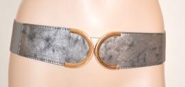 CINTURA STRINGIVITA donna GRIGIO ARGENTO Pelle bustino elastico belt cinturón ремень 170
