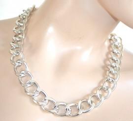 COLLANA argento catena donna ragazza girocollo anelli catenina bigiotteria A14