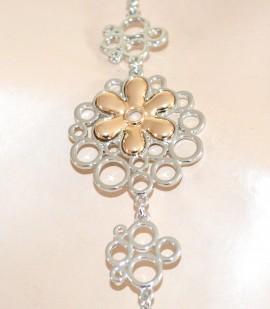 COLLANA LUNGA donna ARGENTO ciondoli oro acciaio elegante girocollo collier collarino E70