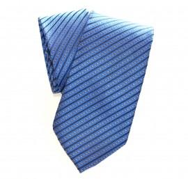 nuova alta qualità qualità superiore negozio online CRAVATTA SETA uomo a RIGHE BLU handmade da cerimonia ELEGANTE Tie ...