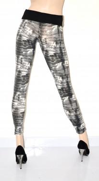 LEGGINGS donna pantacollant fuseaux leggins pantalone skinny sexy aderentegrigio bianco S4