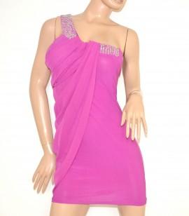 new style 19d38 bd6a5 Mini abito donna ELEGANTE vestito fucsia sexy tubino dress kleid vestido  miniabito clubwear 2