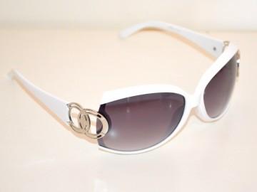 036bd3b421 Occhiali da sole bianchi argento donna lenti ovali protezione solare UV400