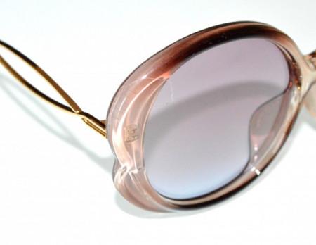 OCCHIALI da SOLE donna BEIGE tortora rosato oro lenti ovali aste dorate óculos de sol BB14