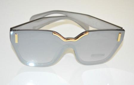 OCCHIALI da SOLE donna GRIGIO ARGENTO ORO lenti mascherina sunglasses темные очки BB26
