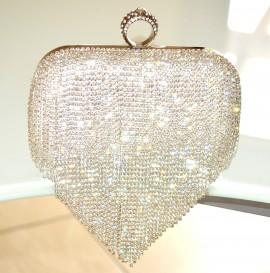 7adefdf1cd Damentaschen POCHETTE ARGENTO strass donna cristalli borsello clutch bag  sposa cerimonia F89