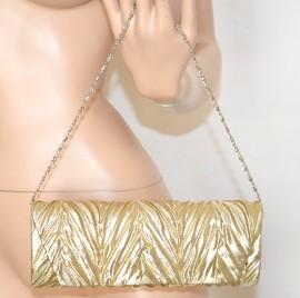 POCHETTE donna CLUTCH BORSELLO oro dorato cerimonia elegante borsa bag sac  1140 066c91d7c8a