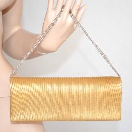 POCHETTE ORO donna BORSELLO elegante DA CERIMONIA borsa da sera clutch bag  bolsa 710D 4167de64d12