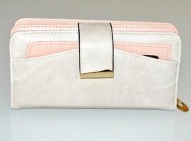 PORTAFOGLIO donna avorio rosa oro borsello tracolla eco pelle portamonete G10