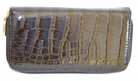 PORTAFOGLIO  VERNICE donna borsello BLU pelle lucida borsellino cocco clutch 1065