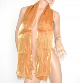 SCIARPA maxi ORO donna foulard sciarpetta pashmina tinta unita metallizzata bufanda scarf 15