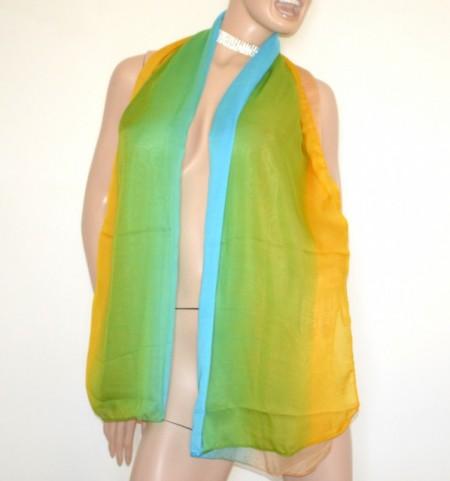 STOLA beige azzurra verde bronzo donna maxi foulard coprispalle velato sciarpa scialle B5