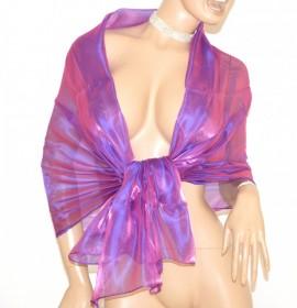 STOLA LILLA GLICINE foulard donna coprispalle scialle elegante cerimonia F1