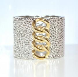 Bracciale donna argento\oro rigido con sfere 96