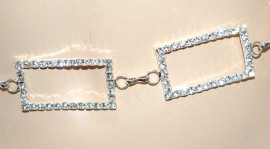 CINTURA GIOIELLO argento donna strass brillantini sposa elegante cerimonia A32