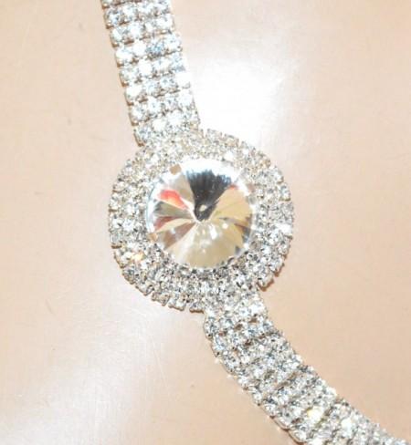CINTURA gioiello argento donna strass cristallo diamante sposa cerimonia belt BB32