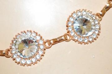 CINTURA GIOIELLO donna ORO cristalli catena metallo strass gold chain belt BB14
