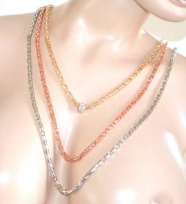 COLLANA donna LUNGA argento oro rosa collier strass bigiotteria cerimonia F285