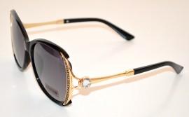 OCCHIALI da SOLE CRISTALLO donna NERI ORO lenti aste dorate sunglasses gafas G8