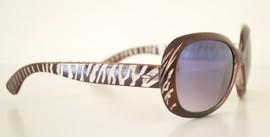 4beb333261 Occhiali da sole donna marrone ovali zebrati lenti protezione solare UV400