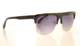 Occhiali da sole uomo nero profilo metallo oro man sunglasses gafas de sol Z4