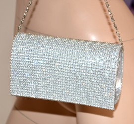 Pochette cristalli donna mini borsello cerimonia strass