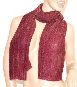 SCIARPA PRUGNA BRILLANTINATA donna foulard pashmina scialle da sera scarf écharpe шарф 5
