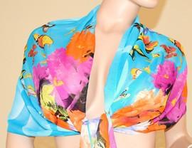 Stola Coprispalle donna elegante per abito da sera\cerimonia azzurro con farfalle