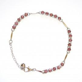CAVIGLIERA donna argento cristalli brillantini strass glicine gioiello mare sexy estivo metallo 10E