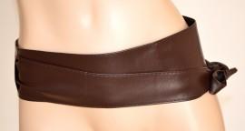 nuovo concetto 42dc6 d5fd2 CINTURA FUSCIACCA donna pelle MARRONE fascia stringivita ...