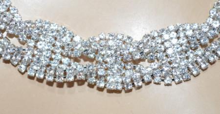 CINTURA gioiello donna argento strass cristalli metallo cerimonia elegante BB36