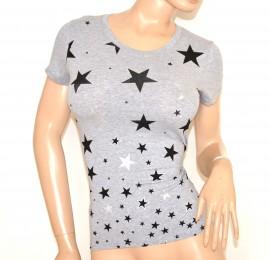 MAGLIETTA GRIGIA donna t-shirt maglia manica corta cotone sottogiacca A22