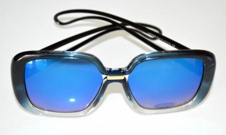 OCCHIALI da SOLE donna BLU azzurro bicolore lenti темные очки sunglasses BB20