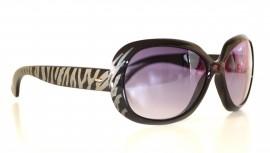 Occhiali da sole donna lenti nere ovali zebrate sunglasses gafas темные очки solglasögon 2