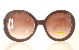 OCCHIALI da SOLE eleganti MARRONI BEIGE ORO donna sexy SERPENTE metallo lenti tonde lunettes 120