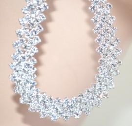 Orecchini argento donna STRASS cristalli ELEGANTI sposa da cerimonia boucles 1075