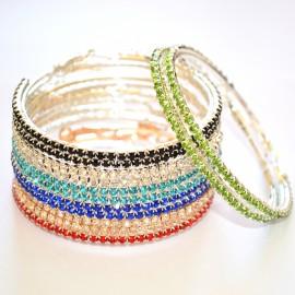 ORECCHINI CERCHI donna STRASS ARGENTO ORO Earrings pendientes Boucles Cерьги 970