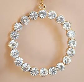 ORECCHINI donna CERCHI argento CRISTALLI brillanti zirconi pendientes crystal earrings ohrringe серьги H04