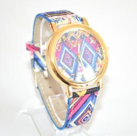 OROLOGIO donna ORO acciaio dorato cinturino colorato blu fucsia ragazza idea regalo E15