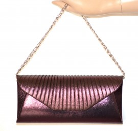POCHETTE VIOLA donna borsa elegante borsello cerimonia borsetta da sera sac 710E