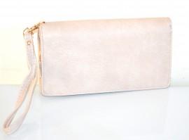 PORTAFOGLIO BORSELLO da borsa donna Grigio beige sabbia  zip oro borsellino portamonete pochette A12