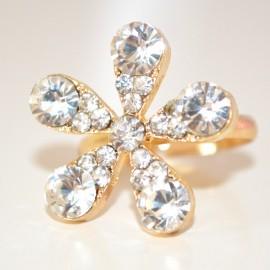 ANELLO FEDINA donna ORO CRISTALLI strass dorato ring anillo anneau regolabile 210