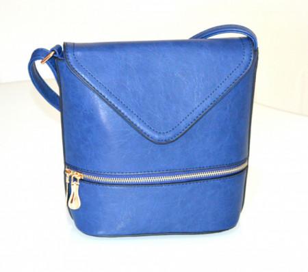 BORSA BLU borsello donna zip oro borsetta bauletto secchiello tracolla pochette sac G92