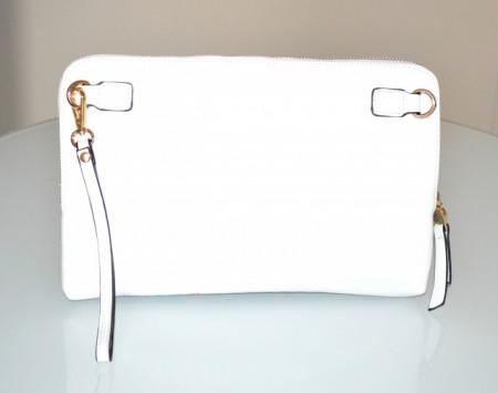 BORSELLO JEANS BLU BIANCO CELESTE donna borsa multicolor eco pelle pochette tracolla G99