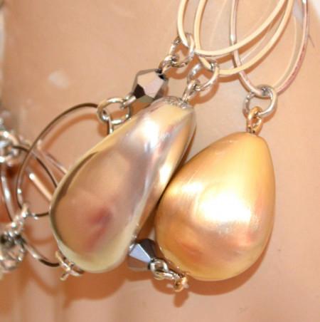BRACCIALE ARGENTO donna charms ciondoli pietre oro rosa dorate anelli strass elegante bijoux N32