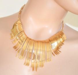COLLANA ORO donna girocollo dorato ELEGANTE collarino da cerimonia rigido collar necklace collier 550