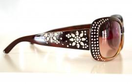 OCCHIALI DA SOLE MARRONE donna lenti ovali sunglasses sexy gafas темные очки 15