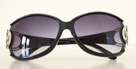 Occhiali da sole neri donna lenti ovali protezione solare UV400